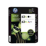 HP 63XL Black/Color Combo Ink Cartridges, 2 pk.