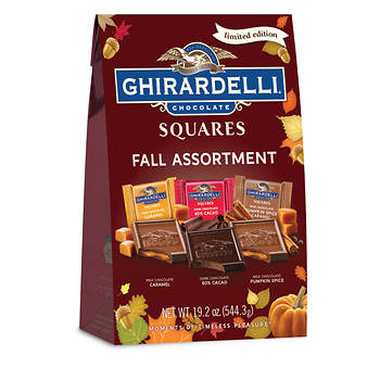 Ghirardelli Chocolate Squares Fall Assortment XL Bag, 19.2 oz.