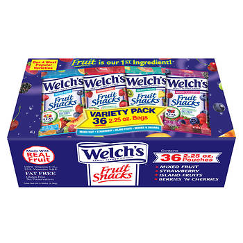 Welch's Mixed Fruit Fat Free Fruit Snacks, 36 ct./2.25 oz.