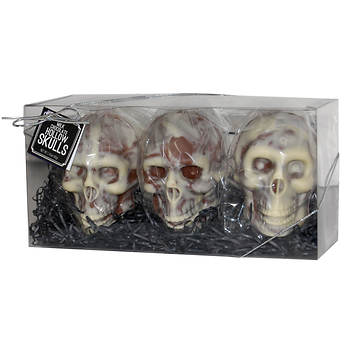 Splendid Chocolates Premium Chocolate Hollow Skulls, 3 pk.