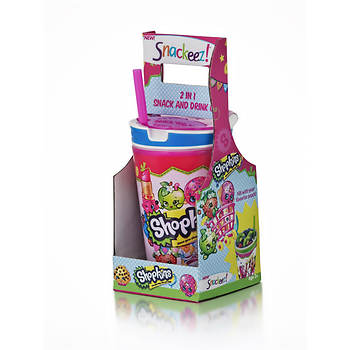 Snackeez Jr. 2-in-1 Drink and Snack Cup - Shopkins