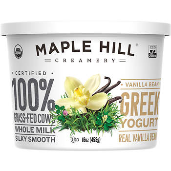 Maple Hill Creamery Greek Vanilla Yogurt, 16 oz.