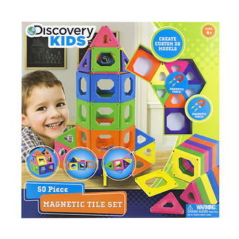 Discovery KIDS 50-Pc. Toy Magnetic Tiles Set