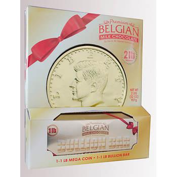 Palmer Premium Belgian Chocolate Gold Coin and Bullion Bar, 2 lbs.