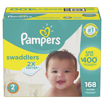 Pampers Swaddlers Size 2 Diapers, 168 ct.