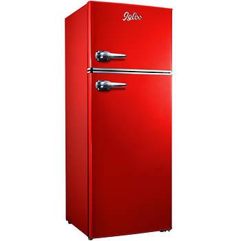 Igloo 7.5-Cu.-Ft. Retro 2-Door Refrigerator/Freezer - Red