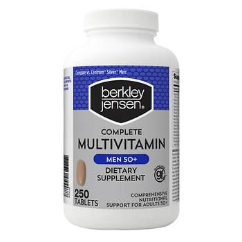 Berkley Jensen Multivitamin Men's 50+, 250 ct.