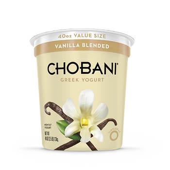Chobani 0% Vanilla Blended Greek Yogurt, 40 oz.