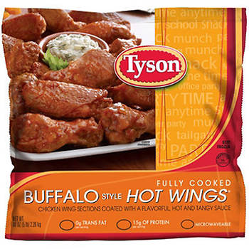 Tyson Fully Cooked Buffalo Style Hot Wings, 5 lbs.