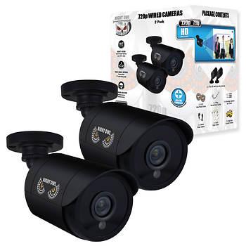 Night Owl 720p Analog Bullet Cameras, 2 pk. - Black