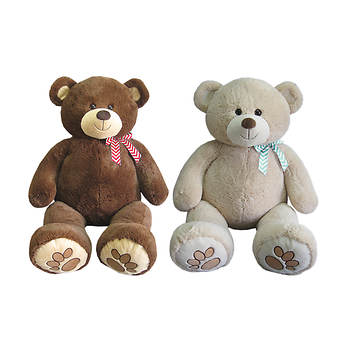 "Hug Fun 53"" Plush Bear with Bow - Assorted"