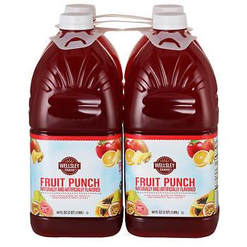 Wellsley Farms Fruit Punch, 4 ct./64-fl. oz.