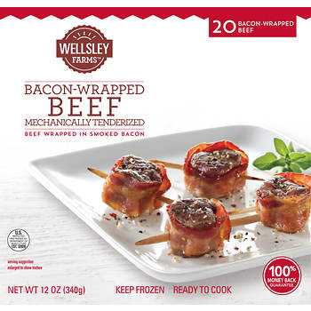 Wellsley Farms Bacon Wrapped Beef, 20 ct.