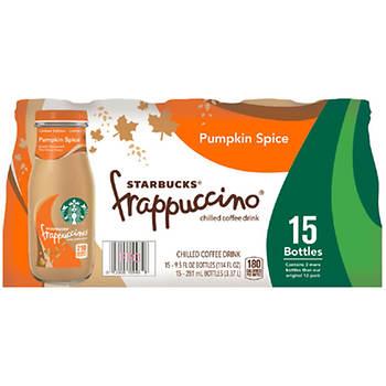 Starbucks Pumpkin Spice Latte Frappuccino, 15 ct./9.5 fl. oz.