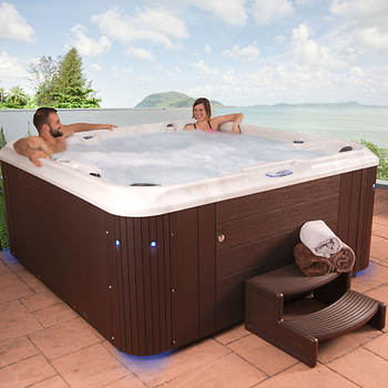 Celestial Spas Belmont 6- to 7-Person 80-Jet Acrylic Spa with Bluetooth