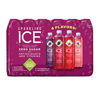 Sparkling Ice Purple Naturally Flavored Sparkling Water, 24 pk.
