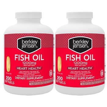 Berkley jensen 1 200mg fish oil softgels 2 pk 200 ct for Red fish oil