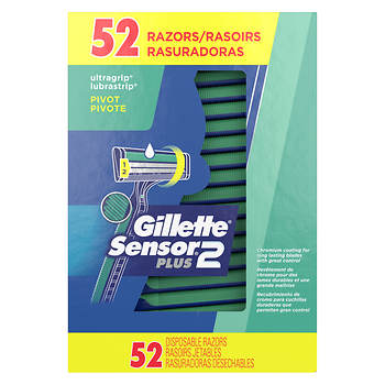 Gillette CustomPlus Disposable Razors, 52 ct.