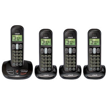 VTech DECT 6.0 4-Handset Cordless Phone with Digital Answering System