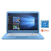 HP Stream Laptop, Intel Celeron N3060, 4GB Memory, 32GB eMMC Drive wit