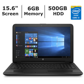 HP 15 Laptop, Intel Core i3, 6GB Memory, 500GB Hard Drive