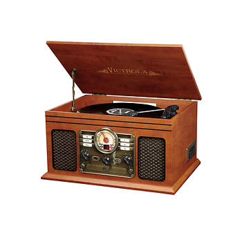 Victrola 6-in-1 Turntable Music Center with Bluetooth