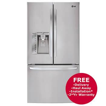 LG 29-Cu.-Ft. 3-Door French Door Refrigerator with Dual Ice Dispenser - Stainless Steel