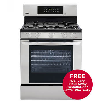 LG 5.4-Cu.-Ft. Single Oven Gas Range - Stainless Steel