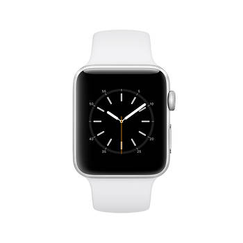 Apple Watch Series 2 with Silver Aluminum Case, 42mm - White Sport Band