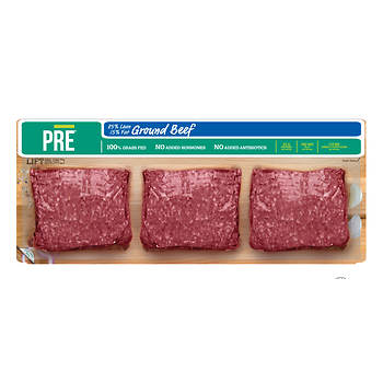 PRE Ground Beef: 85% Lean/15% Fat, 3 lbs.