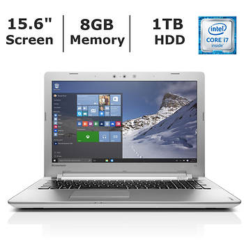Lenovo Ideapad 500 Laptop, Intel Core i7, 8GB Memory, 1TB Hard Drive, 2GB Graphics