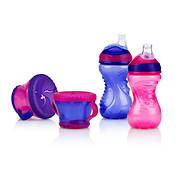 Nuby 4-Piece Snack and Cup Set - Assorted