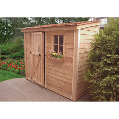 Outdoor Living Today SpaceSaver 8' x 4' Garden Shed