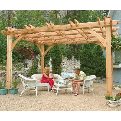 Outdoor Living Today Breeze Western Red Cedar 10' x 12' Pergola