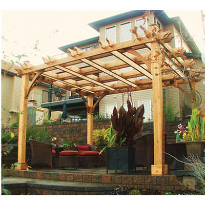 Outdoor Living Today Breeze Western Red Cedar 12' x 12' Pergola