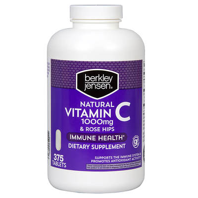 Berkley & Jensen Vitamin C 1000mg with Natural Rose Hips Tablets - 375 Count