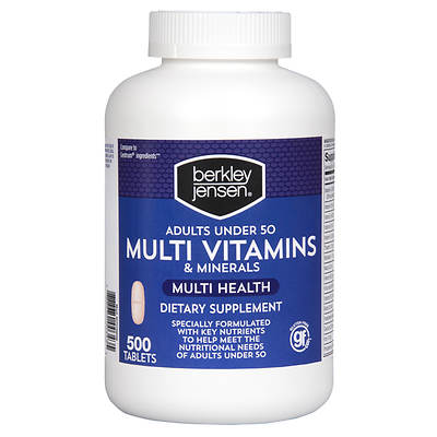 Berkley & Jensen Multi Vitamins & Minerals Dietary Supplement Tablets - 500 Count