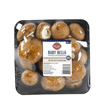 Wellsley Farms Fresh Baby Bella Whole Mushrooms, 24 oz.