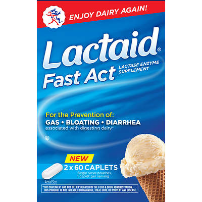 Lactaid Fast Act Lactase Enzyme Supplement, 96 Count