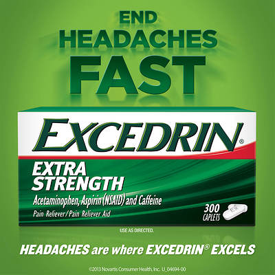 Excedrin Extra-Strength Caplets, 300 Count
