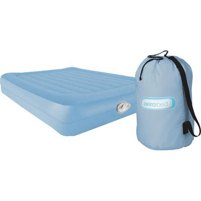 AeroBed Deluxe Comfort Raised Queen Air Mattress with Pump