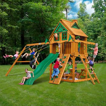 Gorilla Playsets Mountain Ridge Swing Set with Timber Shield