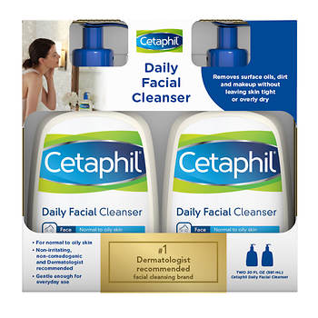 Cetaphil Daily Facial Cleanser, 20 Fl. Oz., 2-Pk
