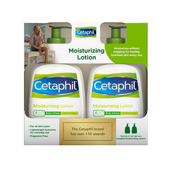Cetaphil 20-Fl. Oz. Moisturizing Lotion, 2-Pk