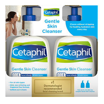 Cetaphil Gentle Skin Cleanser, 2 pk./20 fl. oz.