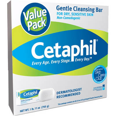Cetaphil 4.5-Oz. Gentle Cleansing Bar, 6-Pk