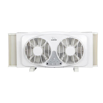 """Polar-Aire 9"""" Twin Window Fan with Digital Thermostat"""