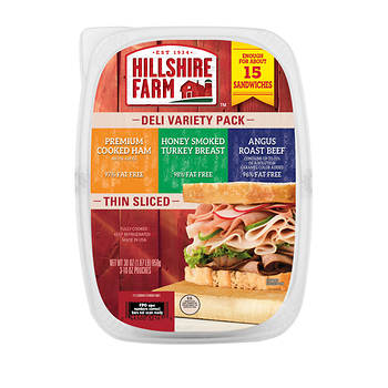 Hillshire Farm Lunch Meat Variety Pack Tub, 30 oz.