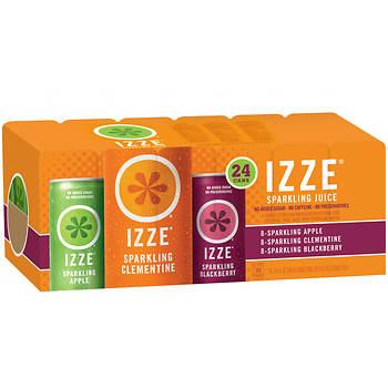 Izze Sparkling Juice, 24 pk./8.4 oz.