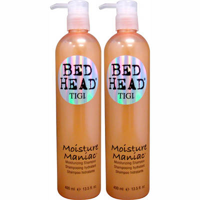 TIGI Bed Head Moisture Maniac Moisturizing Shampoo, 13.5 Fl. Oz., 2-Pk